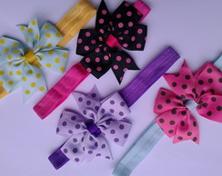 kit 4 headbands com laço boutique