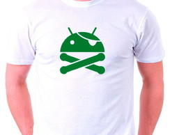 Camisetas Geek Nerd Android Pirata