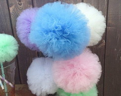 POMPOM Tule CANDY COLORS Luxoo