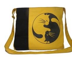 BAG Yellow Cat Ying Yang