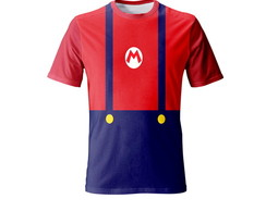 Kit 2 Camisetas Mario Bros