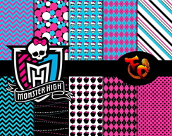 Kit Fundos digitais - Monster High2
