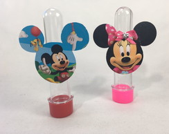Tubete Aplique Mickey - Minnie