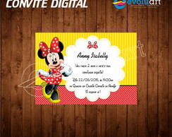 convite minnie digital