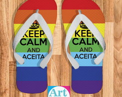 Chinelo Gay Keep Calm And Aceita