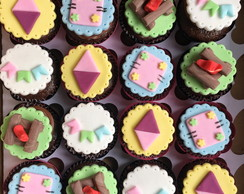 Mini Cupcakes - Festa Junina