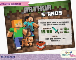 Convite Digital - Minecraft