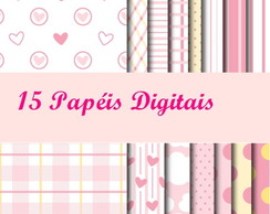 Kit Digital Scrapbook Rosa