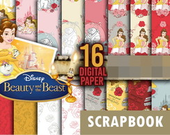 Kit scrapbook digital Bela e a Fera