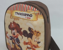 mochila mickey e minnie pirata