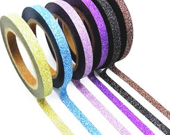 Kit Washi Tape com Glitter - WK00703a