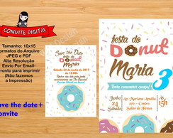 Convite Digital Donut + save the date