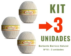 Barbante Barroco Natural - Nº10 - 3 unid