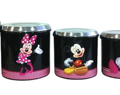 PORTA MANTIMENTOS PRETO DA MINNIE