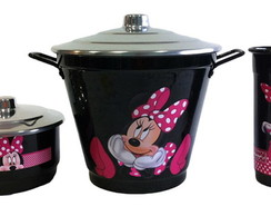 KIT PIA PRETO DA MINNIE