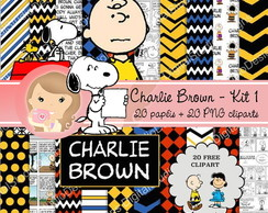 Kit Digital Scrapbook CHARLIE BROWN kit1