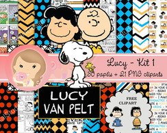 Kit Digital Scrapbook LUCY (Snoopy) kit1