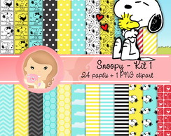 Kit Digital Scrapbook SNOOPY kit1