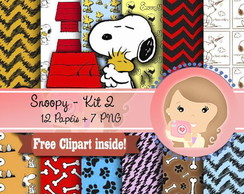 Kit Digital Scrapbook SNOOPY kit2