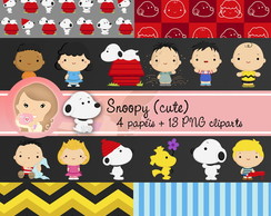Kit Digital Scrapbook SNOOPY (CUTE)