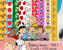Kit Digital Scrapbook SNOOPY TURMA 1
