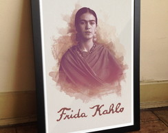 Quadro Frida Kahlo aquarela [exclusivo]