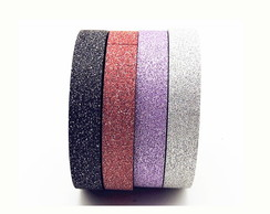Kit 2 - Washi Tape com Glitter - W00157