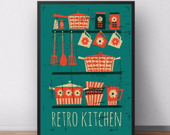 poster Retro Kitchen 525 30x40