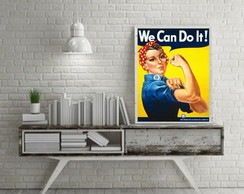 Poster vintage pin up We can!