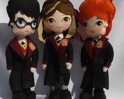 Bonecos do Harry,Hermione e Rony