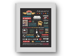 Poster/Quadro Friends Quotes