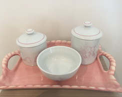 kit porcelana toyle rosa