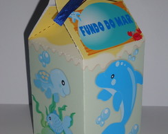 Caixa Milk Estampada Fundo do Mar