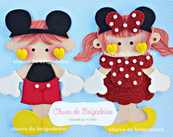 Casal aplique festa Mickey/Minnie