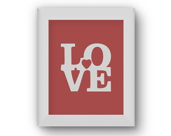 Poster/Quadro Red Love