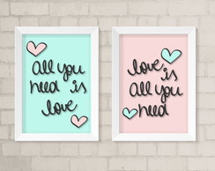 Quadros A4 - Love is All you Need