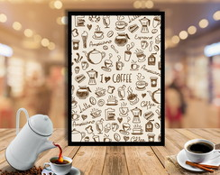 Quadro I Love Coffee 30x40cm