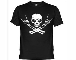 Camisetas Caveira Rock In Roll