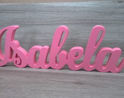 Nome Isabela personalizado mdf 20 mm