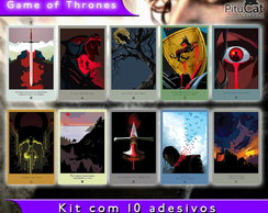 Game of Thrones 10 adesivos artes temp 1