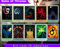 Game of Thrones 10 adesivos artes temp 2