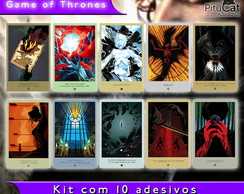 Game of Thrones 10 adesivos artes temp 3
