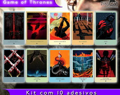 Game of Thrones 10 adesivos artes temp 4