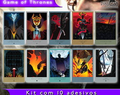 Game of Thrones 10 adesivos artes temp 5