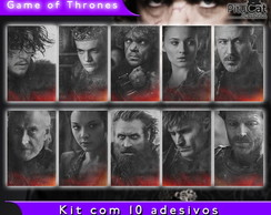 Game of Thrones 10 adesivos temporada 4