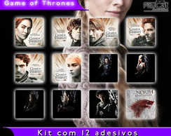 Game of Thrones 12 adesivos temp 1 e 2