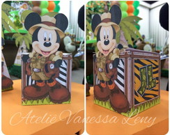 Caixa Cubo Mickey Safari