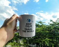 Caneca Keel Calm and Travel the World