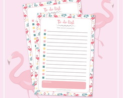 Bloco Flamingo - To do list