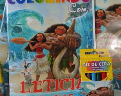 Kit de colorir Moana